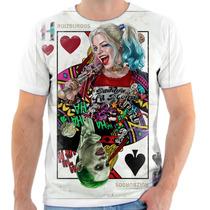 Camisa Camiseta Personalizada Arlequina E Coringa Filme 2