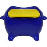 Baú Mesa De Plástico Para Guardar Brinquedos - Azul - Freso