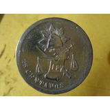 Moneda Antigua 25 Centavos 1888 Alamos Ceca Escasa
