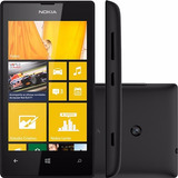 Nokia Lumia 520 Preto Windows 8 Câm 5mp 3g Wi-fi I Novo