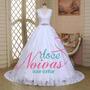 Vestido Noiva Martina Renda Cinto Gg Plus Pronta Entrega