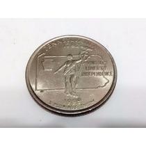 Moeda 25 Cents Quarter Dollar 1999 Pennsylvania Letra P Eua