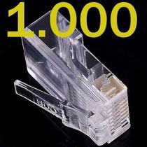 Kit 1000 Unidades Conector Rj45 Cat5e Rede Lan Plug Ethernet