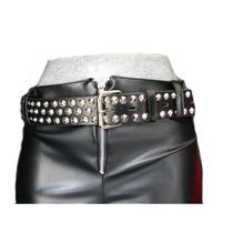 Cinturon Estoperol Negro Metalero Thrash Gotico Cybergoth