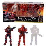 Set 3 Figuras Halo Reach Spartan Specter Camuflaje Mcfarlane