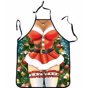 Mandil Navidad Diseño Santa Claus Mujer Sexy