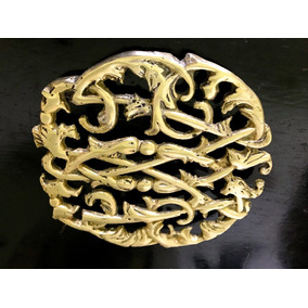 Posa Fuent O Apoya Pava Antiguo Francés Bronce Macizo