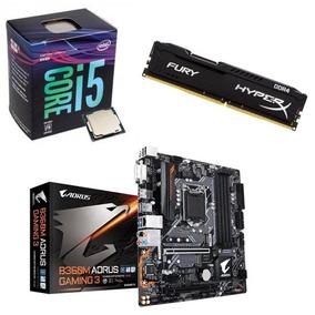 Kit B360m Aorus Gaming 3 + Processador I5 8400 + 8gb 2400mhz