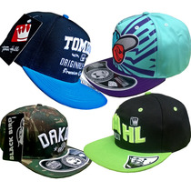 Kit 4 Bonés Originais Snapback Tom Hill Black Bird!!!