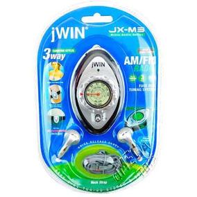 Mini Rádio Am/fm Pilha Portátil Jwin Jx-m3