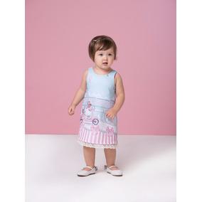 Vestido Infantil Festa Roupa Criança Verão Gabriela Aquarela