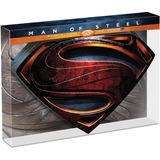 Superman Man Of Steel El Hombre De Acero Bluray 3d Escudo