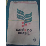 Bolsa De Arpillera Cafe Do Brasil De Yute 100% Natural