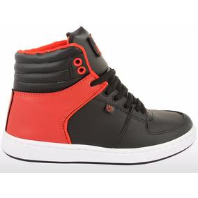 Zapatilla Krial Legend Negro Rojo Skate Keel Over