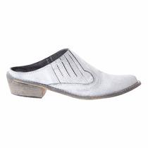 Zapatos De Cuero Sin Talón Basement Nuevos