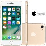 Apple Iphone 7 128gb Gold Chip A10 Fusion Frete Grátis