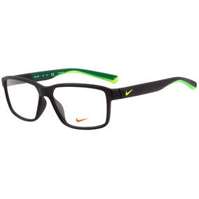 Nike 7092 - Óculos De Grau 001 Preto E Verde Fosco - Lente