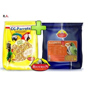 Kit 1 Bambito Extrusado 5kg + 1 Ração Cc-parrots 6kg (n)