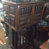 Mueble Bar Antiguo En Madera Tallado Cedro