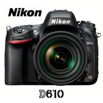 Nikon D610 24mp - Lente 24-85mm + Caselogic + 32gb + Tripé