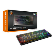 Teclado Gamer Cougar Mecanico Puri Tkl Led Rgb Switch Red