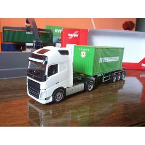 Miniatura Novo Volvo Fh4 Container Evergreen Herpa 1/87 Ho