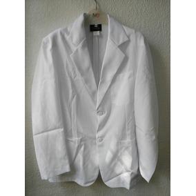 Saco/bata Caballero Color Blanco H2-57