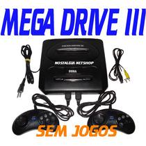 (( Mega Drive 3 )) Completo 2 Controles + Fonte + Cabo A/v