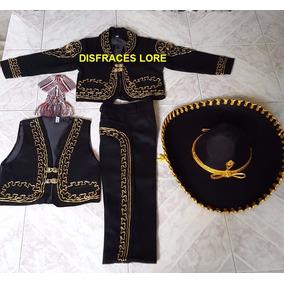 Disfraz Traje Charro Revolucion Regional Niños/sombrero Moño