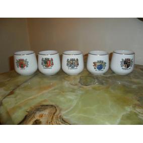 Juego De 5 Vasitos De Porcelana. Microcentro-avellaneda.