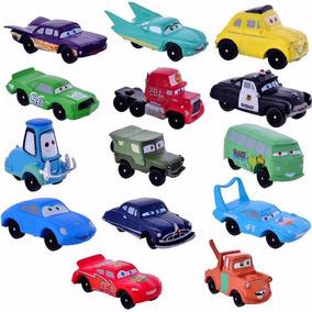 Kit Miniatura Carros Pixar Disney Relampago Mc Queen Dinoco
