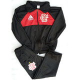 Agasalho Infantil Flamengo Com Uniforme Shorts E Camisa