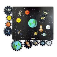Encastre Rompecabezas Engranaje Espacial Planetas Didactico