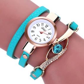 Relógios Feminino Pulseira Em Couro Retro Vintage Pingente