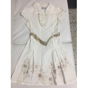 Vestido De Niña Blanco Y Dorado Original De Hannah Montana