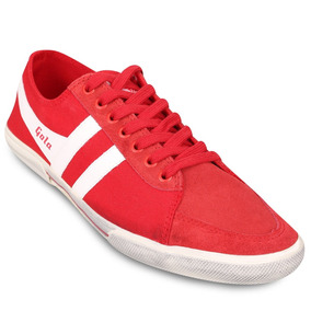 Zapatillas Gola Super Quarter Rojas Originales