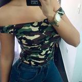Bodys Shoulder Militar Camuflaje Para Damas