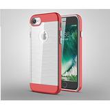 Funda Iphone 7 Ultra Delgada Dual Tpu+pc Rojo/negro/rosa/pla