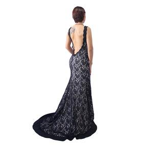 Vestido Largo Con Cola Sin Espalda Elegante De Fiestas 2631
