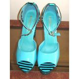 Zapato Fashion, Charol Esmeralda Con Negro, Talla 37