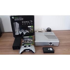 Xbox 360 Slim Edição Especial Halo + Hd 250gb- Semi Novo