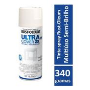 Spray Branco Semibrilho Plástico,vidro,aluminio,madeira,meta
