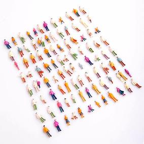 10 Figuras Humanas Em Pé Ho 1:87 Em Plástico