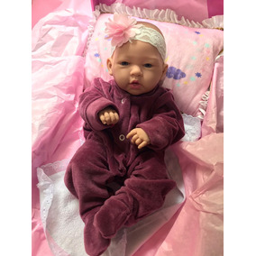 Bebê Reborn Barato Pronta Entrega Menina Corpo Silicone 38cm