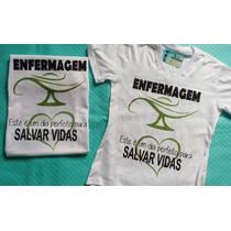 Camiseta Enfermagem Enfermeira Curso Camisa Baby Look