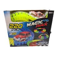 Pista Flexible Auto Magic Tracks 220 Piezas Luz Led 3.35 Mts