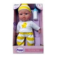 Muñecos Poppi Mi Primer Bebe Con Sonido Y Biberon 31cm 27001
