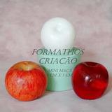 Molde Silicone Fruta Maçã Glicerina Parafina Gesso