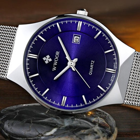 Relógio Unissex Wwoor 8016 Ultra Fino Quartzo Luxuoso