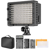 Lampara Led 160 Dsrl Video Canon Sony Nikon Foto Dimmable
